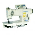 High Speed Two Needle Semi-Dry Direct Drive Needle Feed Lockstitcher with Thread Trimmer